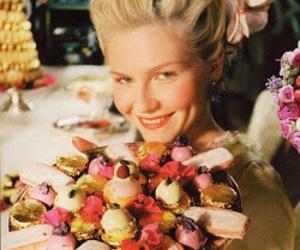 marie antoinette, Kirsten Dunst, and dessert image