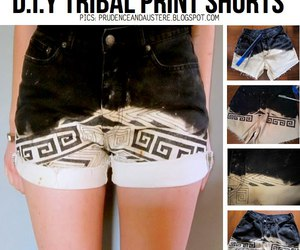 diy, shorts, and tribal image