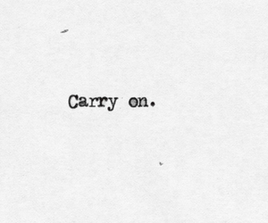 quote, carry on, and text image