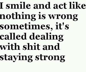 quote, smile, and strong image