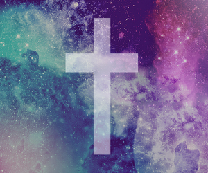 galaxy, cross, and hipster image