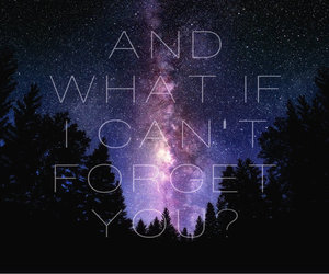 forget, quote, and galaxy image