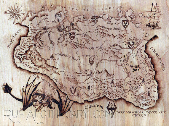 Pyrography Wood Burning Skyrim Dragon Map by RueApothecary ... on just cause 2 map, elsweyr map, dark souls map, dragonborn map, elder scrolls map, dead island map, battlefield 3 map, knights of the nine map, riften map, l.a. noire map, cyrodiil map, whiterun map, morrowind map, mass effect map, pokemon map, minecraft map, oblivion map, halo 4 map, zelda map,