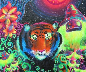 tiger and trippy image
