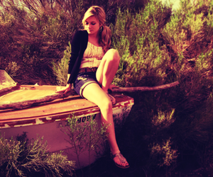 girl, blonde, and boat image