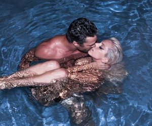taylor kinney, Lady gaga, and pool image