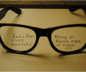 glasses, beautiful, and eyes image