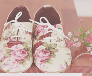 shoes, flowers, and style image