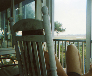 girl, chair, and vintage image