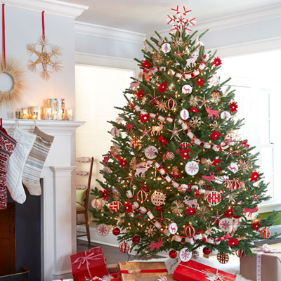 Red And White Christmas Tree Decorations Ideas.Christmas Tree Decorating Ideas Scandinavian Christmas