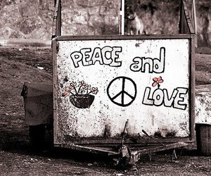 peace, love, and quote image