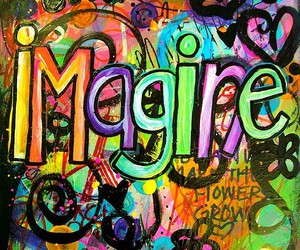 imagine, colorful, and text image