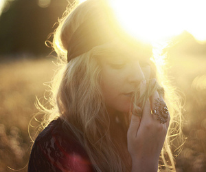girl, blonde, and sun image