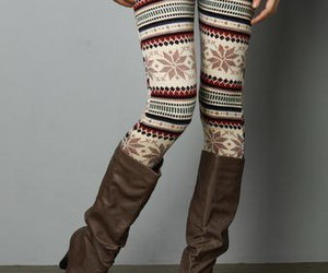 fashion, leggings, and boots image