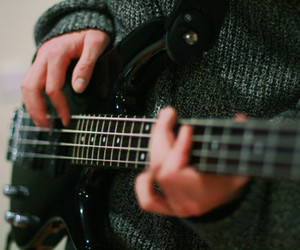 guitar, music, and bass image