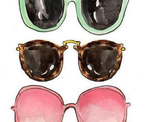 sunglasses, glasses, and drawing image