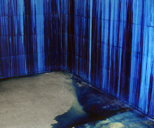 blue, art, and wall image