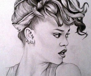 rihanna, drawing, and draw image