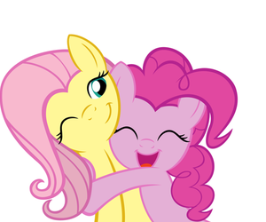pinkie pie, fluttershy, and MLP image