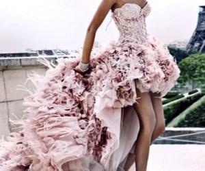 dress, pink, and paris image