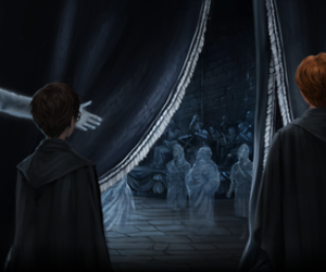 drawing, fantasy, and harry potter image