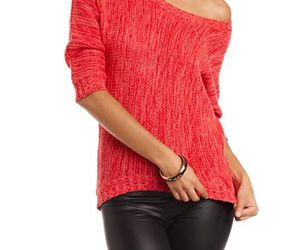 fashion, knit, and one shoulder image