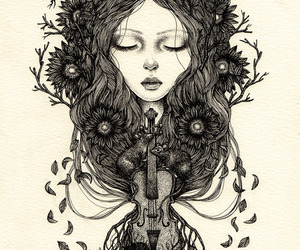 art, illustration, and music image
