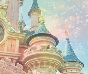 castle, disney, and pastel image