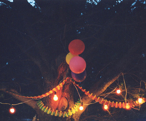 balloons, light, and party image