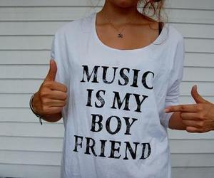boyfriend, girl, and music image