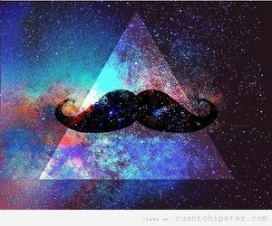 mustache, galaxy, and moustache image