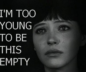 young, empty, and quote image