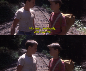 stand by me, weird, and friends image