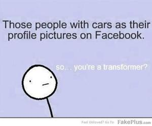 cars, facebook, and people image