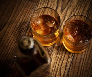 glass, whiskey, and photography image