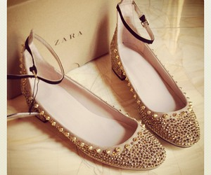 ballerina shoes, gift, and metall image