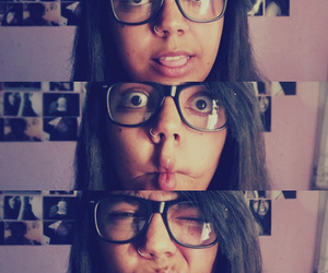 glasses, kiss, and caras e bocas image