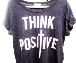 forever21, shirt, and think positive image
