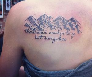 on the road and tatto image