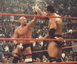 wrestling, the rock, and wwe image