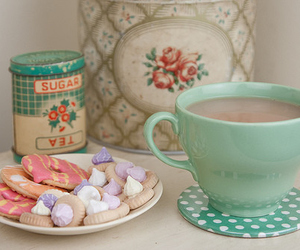 tea, cup, and food image