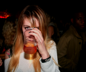 drink and girl image