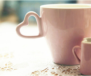 cup, heart, and pink image