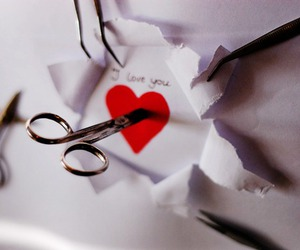 heart, I Love You, and Paper image
