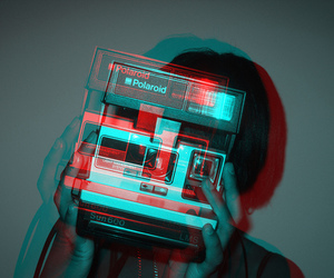 polaroid, 3d, and photography image