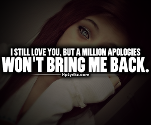 love, quote, and apologies image