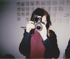 girl, camera, and indie image