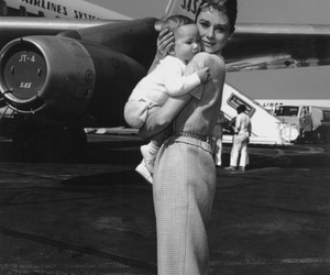 1950s, actress, and airplanes image