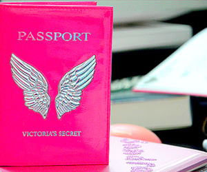 pink, Victoria's Secret, and passport image