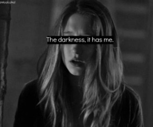 alone, black and white, and Darkness image